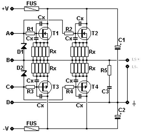 MOSFET amplifier circuit