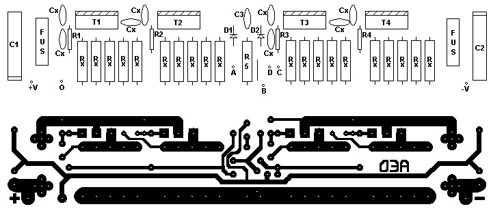 PCB and component layout