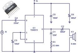6 Watt HI FI audio amplifier based TDA2613