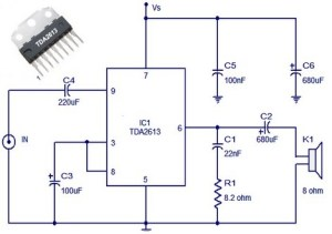 6 w amplifier circuit diagram