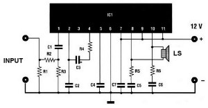 20w car audio amplifier circuit