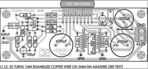 36 w PA component layout