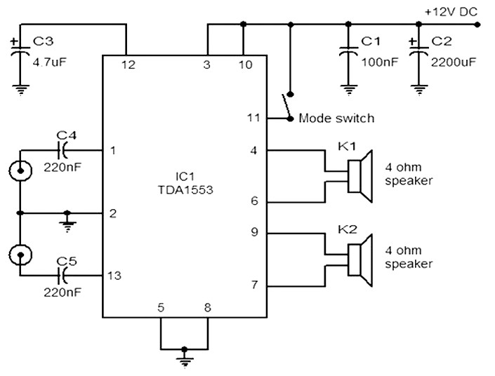 circuit diagram of car stereo amplifier Archives