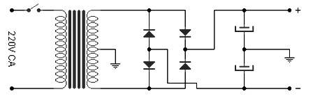 Power supply for 50W amplifier based LM3886TF