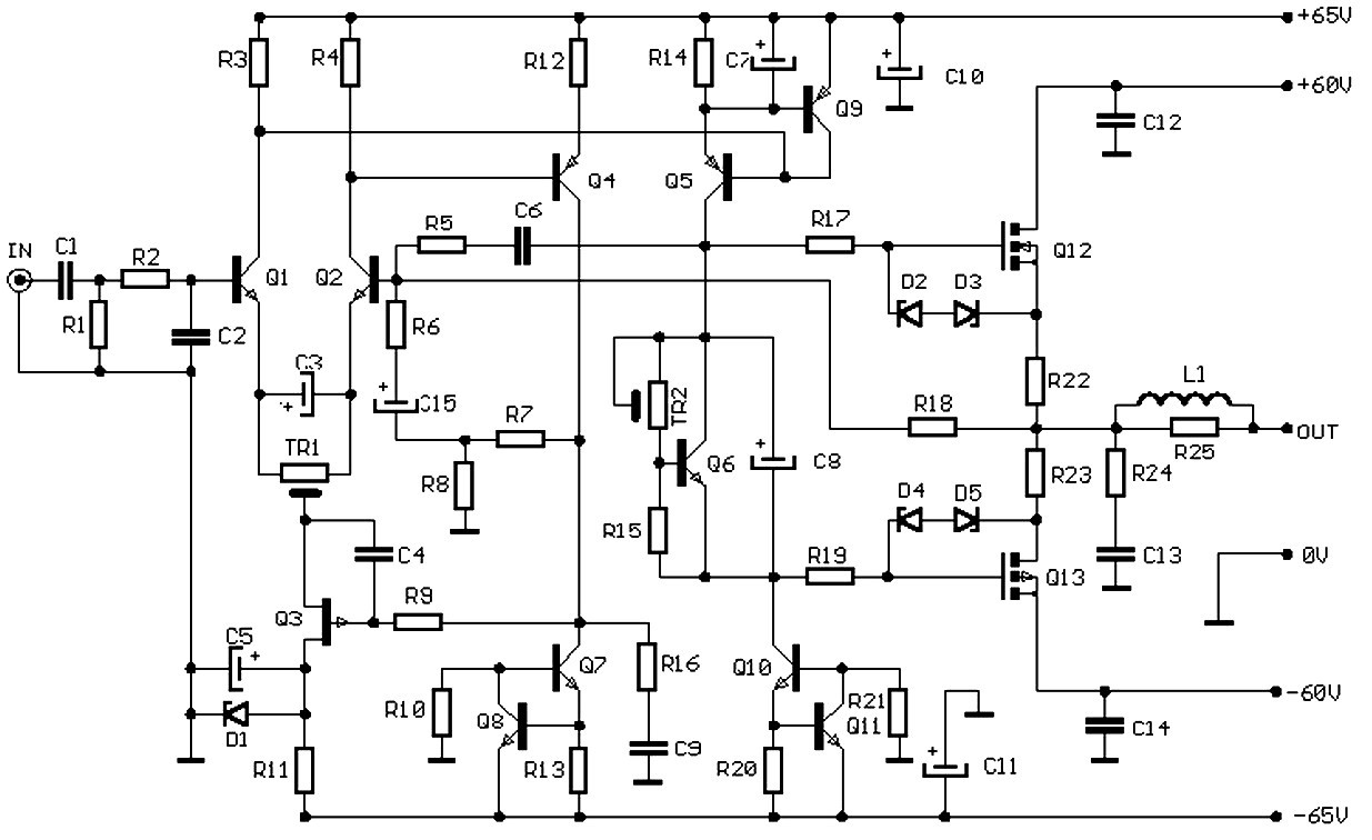 Audio Amplifier Circuit Diagram 100w