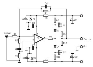12W audio amplifier F.E.T.