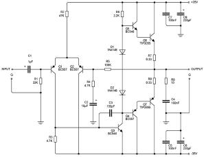 75w power amplifier circuit