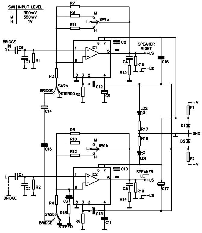 mono car amplifier wiring diagram stereo