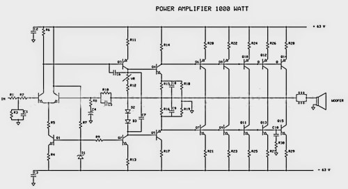 small resolution of 1000w audio amplifier circuit diagram