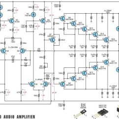 Audio Amplifier Circuit Diagram With Layout F250 Trailer Wiring 350 Studio Scheme And Pcb Power