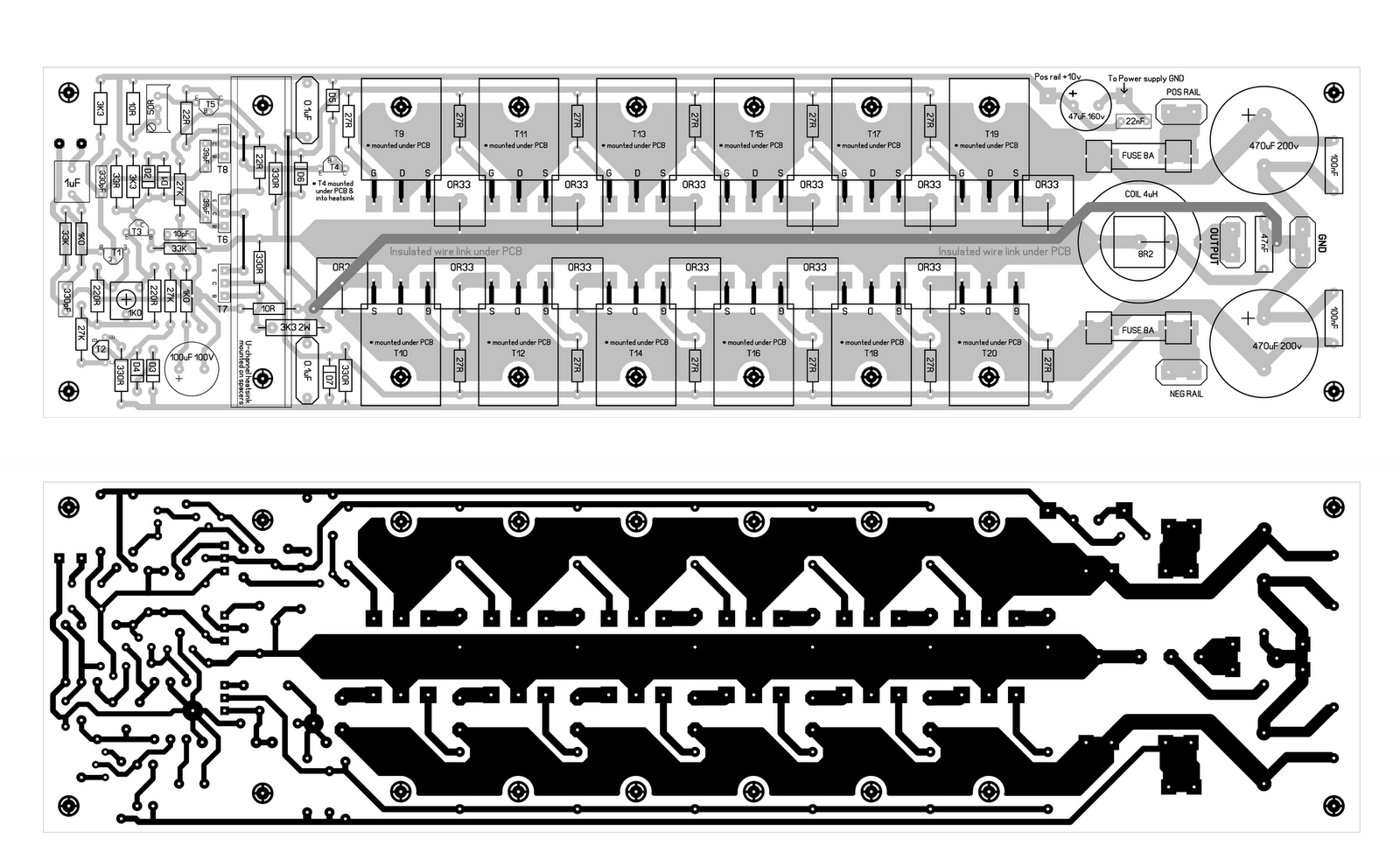 600W Mosfet Power Amplifier PCB Design
