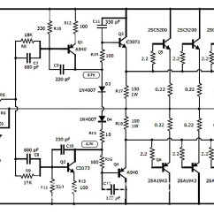 2000 Watts Power Amplifier Schematic Diagram Electric Door Strike Wiring 1000 Watt Audio With Transistors 2sc5200 And 2sa1943 1000w Stereo Transistor