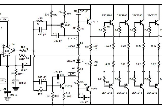 Amplifier Circuit Design - Amplifier Project Scheme Diagram