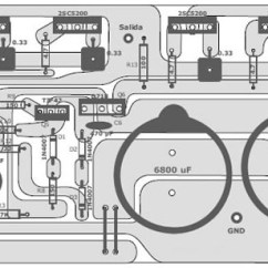 Audio Amplifier Circuit Diagram With Layout 1975 Fj40 Wiring 400 Watt 70 Volt Schematic Pcb Design Top And Component