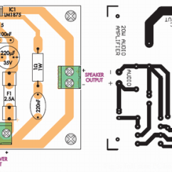 Audio Amplifier Circuit Diagram With Layout 7 Pin Flat Trailer Wiring Amplifiercircuits Com Page 2 Find The Best Lm1875 Pcb