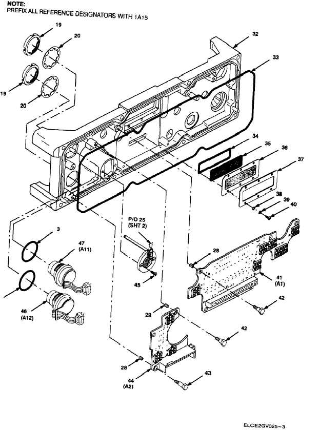 Figure 5A. Front Panel Assembly RT-1523D(C)/U (Sheet 3 of 3)