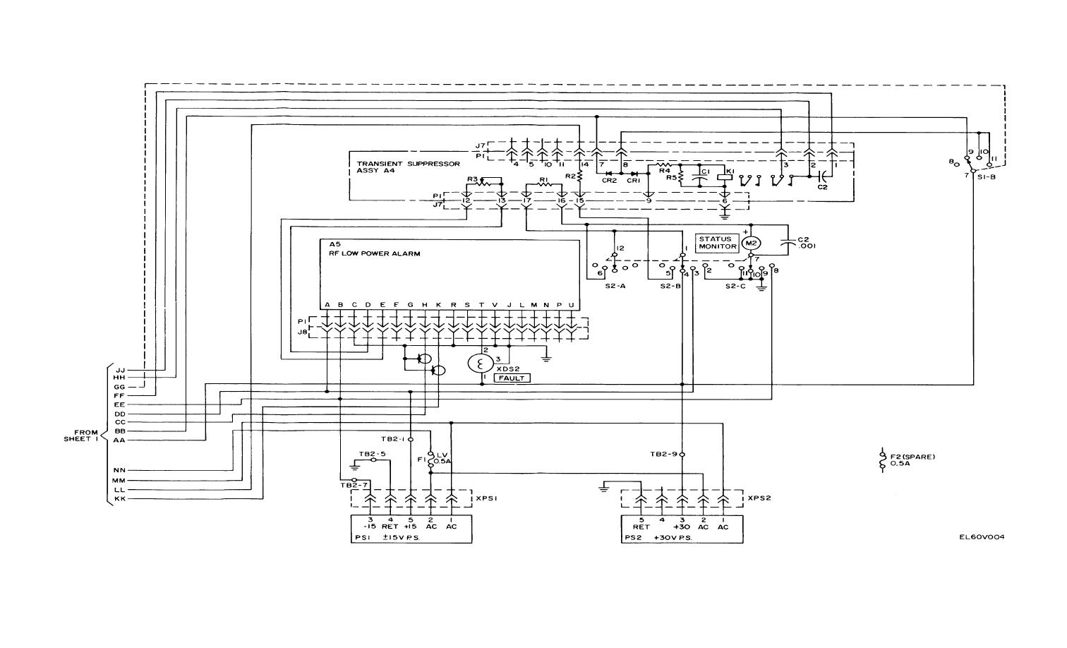 Figure FO-2. (2). Amplifier-Mixer Schematic Diagram (Sheet