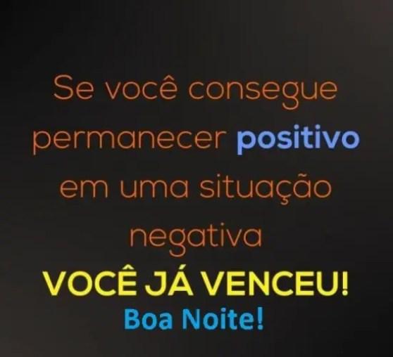 Mantenha sempre o pensamento positivo