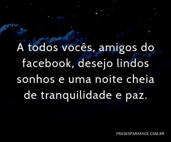 Frases de boa noite para amigos do facebook
