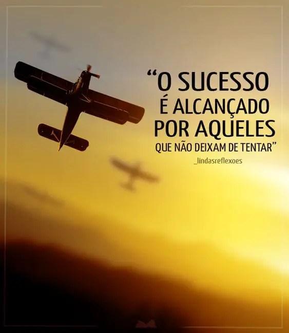 Mensagem sobre o sucesso
