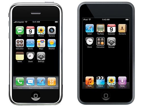 Un Ipod Touch y un Iphone
