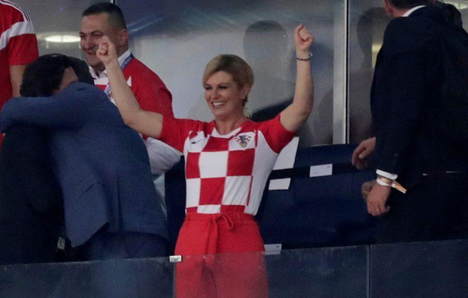 Vladimir Putin, Kolinda Grabar-Kitarovic y Macron, comparten palco de honor