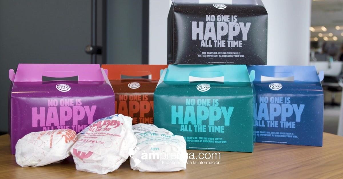 Burger King lanza 'cajita infeliz' en el mes de la salud mental