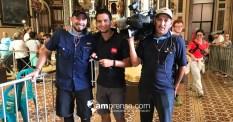 Diego Quesada, Andrés Ramírez y Luis Barquero de Repretel