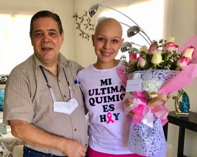 Karling Rodríguez junto a su papá. Fotos cortesía