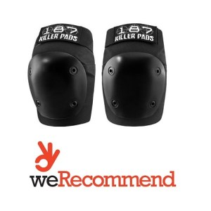 Fly knee pads 187 pro non bulky for scoot/skateboarders