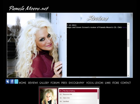 Amps and Green Screens review of Pamela Moore's CD | PamelaMoore.net