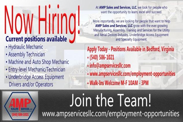 AMP S&S - Now hiring 05.11.2018