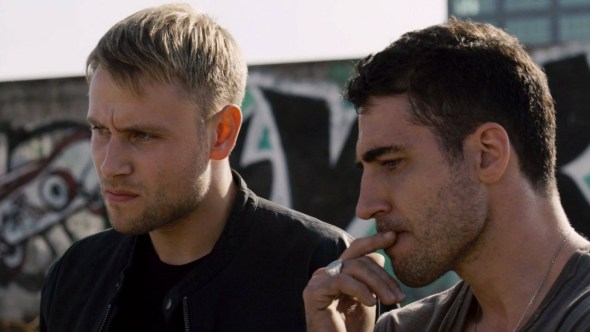 "These are two characters from ""Sense8."" I honestly don't know which two they are."