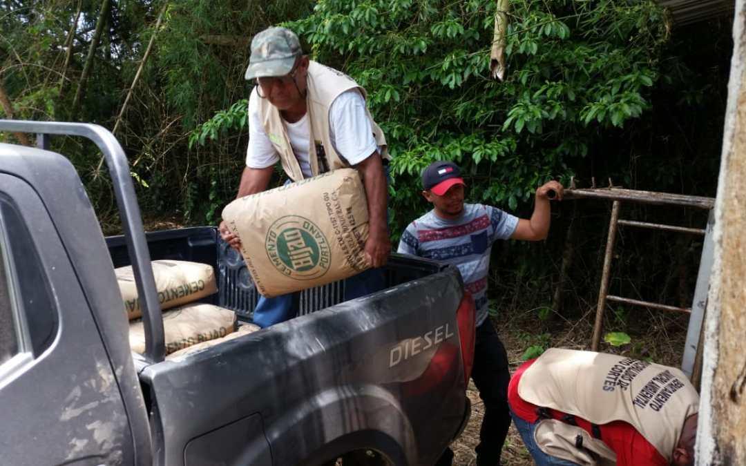 Se entregan materiales para la construcción de viveros