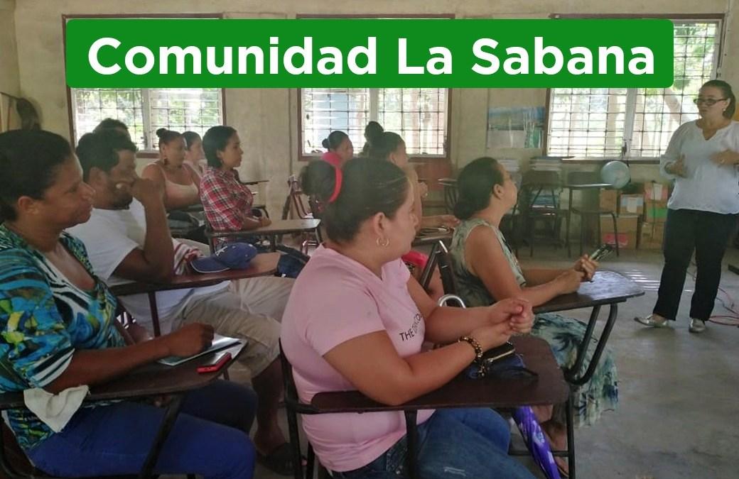 Capacitamos en el sector Garífuna a padres de familia en temas de prevención violencia.