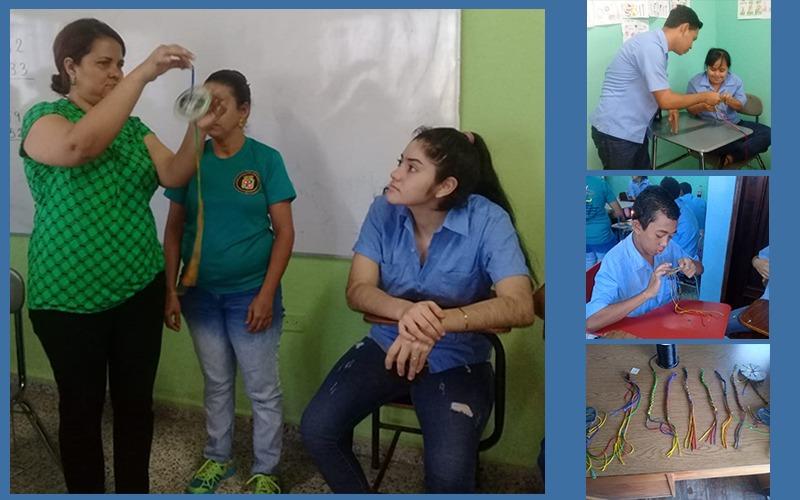 Estamos desarrollando Taller de Bisutería con alumnos de la Escuela Municipal Especial Emanuel.