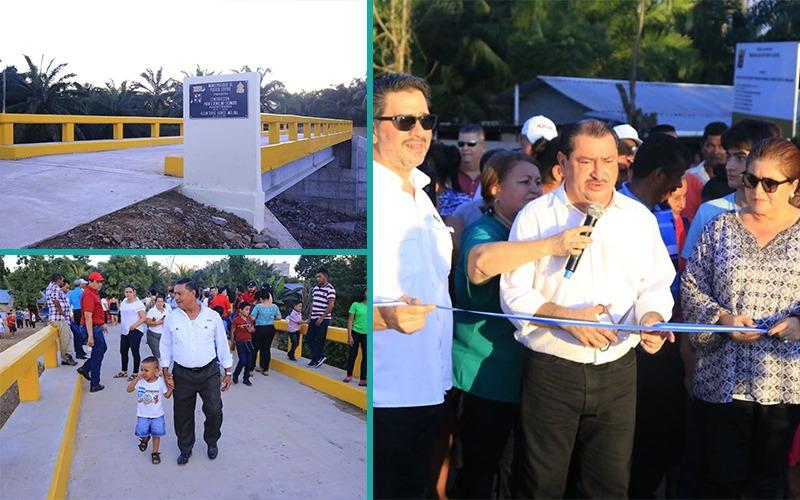 Entregamos Puente de Remolino Ticamaya, beneficiando a mas de 2,000 pobladores.