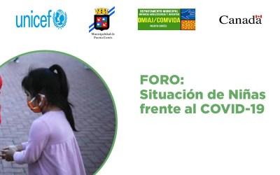 Te invitamos a que participes en el Foro Situación de Niñas frente al COVID-19.