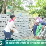 Otras12 familias beneficiadas con materiales construcción