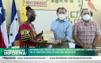 2, 700 libros Tecno-garífunas para 12 centros Educativos del Municipio