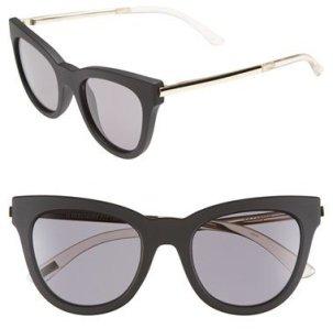 Le Specs Le Debutante 51mm Cat Eye Sunglasses