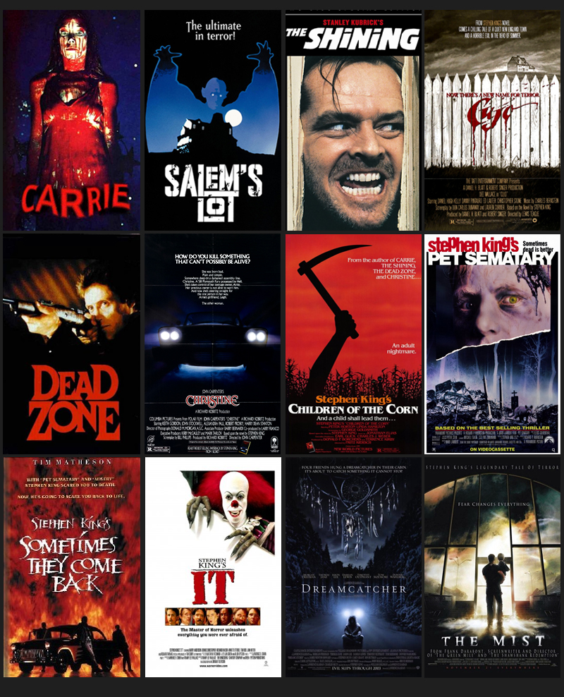 Film De Stephen King : stephen, Stephen, Movies, Based, Popular, Books, AmReading