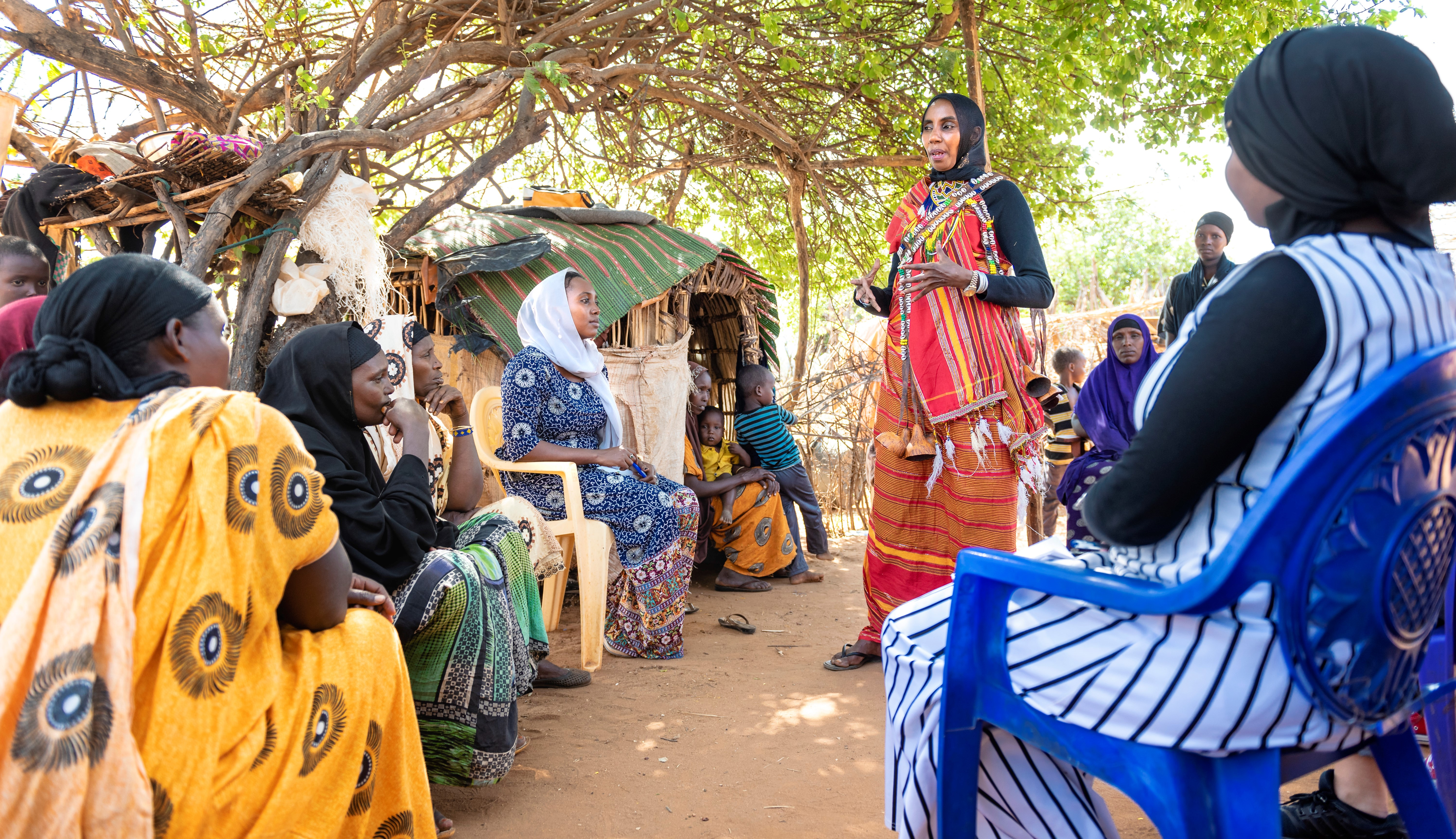 Halima Abduba in a community engagement session
