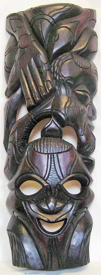 African wood carving.