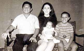 Soetoro family with Barack