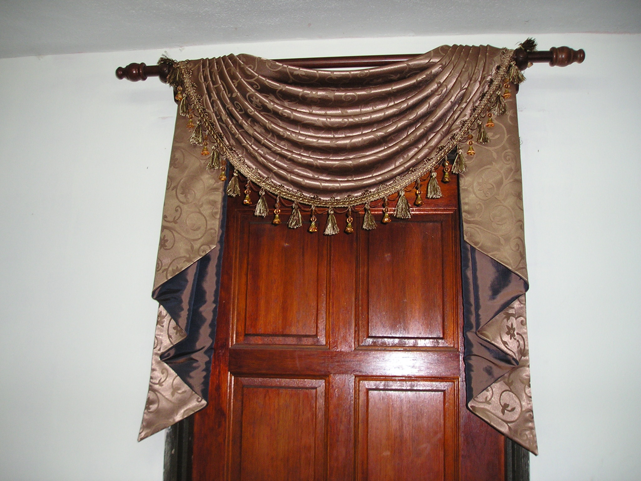 swag curtains for kitchen valance ideas & tail | :: amriah curtain