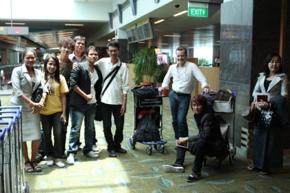 """""""Breaking the Silence"""" team arriving in Singapore"""