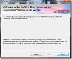 Setting up Netwrix Disk Space Monitor tool (1/6)