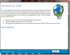 Installing Toad For Oracle in windows 7 (5/6)