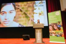 Motivational speech for young people around London at the Barbican Centre